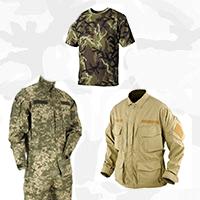 Камуфляжная одежда (форма, футболки, бушлаты и пр)