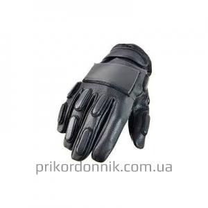 Кожаные перчатки SEC FINGERLINGE черные, полнопалые