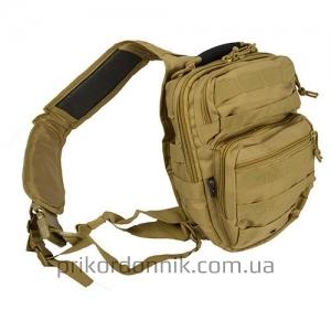 MIL-TEC рюкзак однолямочный ONE STRAP ASSAULT PACK SM койот