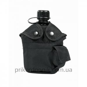 Mil-TEC фляга черная с чехлом