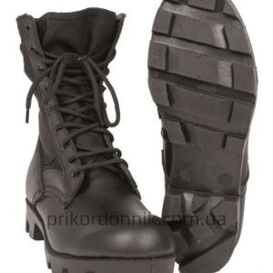 Берцы кожаные черные US JUNGLE BOOT 'PANAMA' mil tec