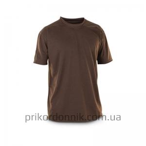 Потоотводящая футболка коричневая, Coolmax