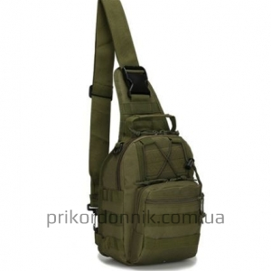 Тактический однолямочный рюкзак EDC олива