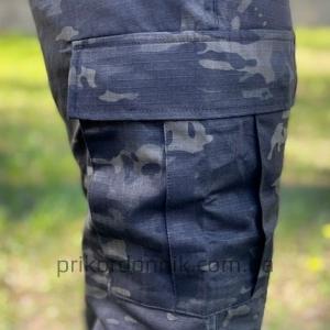 Брюки зауженные BDU FELDHOSE R / S 'SLIM FIT'  MULTITARN® BLACK