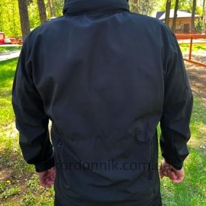 "Куртка Softshell черная ""Тактик"""