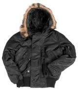 Куртка N2B Аляска черная