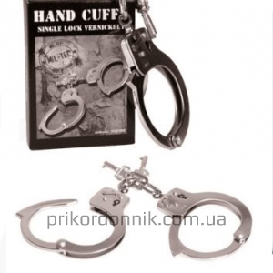 Наручники HAND CUFFS SINGLE LOCK VERNICKELT O.GEW.