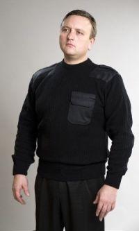 Свитер форменный черный
