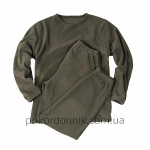 Флисовый костюм UNTERWÄSCHE THERMOFLEECE олива