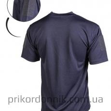 Потоотводящая футболка TACTICAL T-SHIRT QUICKDRY темно-синяя- Фото№2