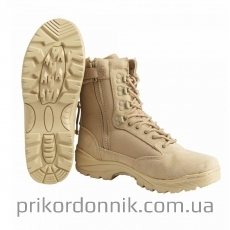 Ботинки берцы TACTICAL BOOT ZIPPER YKK Thinsulate хаки