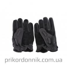 Кожаные перчатки SEC FINGERLINGE черные, полнопалые- Фото№2