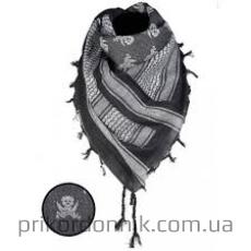 Арафатка Mil Tec черная принт череп