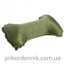 Подушка под шею надувная олива