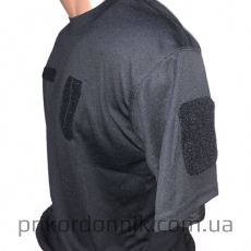 Потоотводящая футболка c погоном TACTICAL T-SHIRT QUICKDRY черная- Фото№2