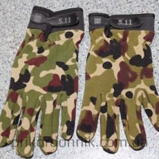 Перчатки полнопалые 5.11 камуфляж