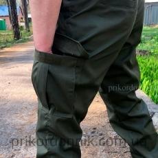 Брюки джоггеры Олива, рип-стоп- Фото№4
