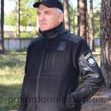 Флисовая кофта тактика черная Полиция