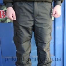 Тактические брюки олива на флисе