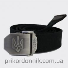 Ремень с Гербом Украины, черный