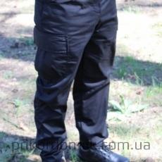 Тактические брюки черные на флисе