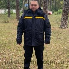"Бушлат зимний ДСНС с вышивкой ""Рятувальник"" на спине"