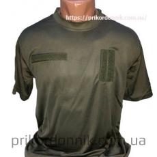 Потоотводящая футболка c погоном TACTICAL T-SHIRT QUICKDRY OLIV