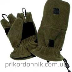 Перчатки-варежки MIL-TEC из флиса олива