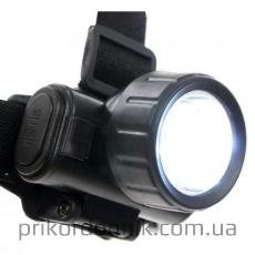 Фонарь 12 LED налобный, мил-тек