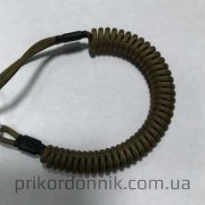 Спиральный тренчик (шнур) из паракорда олива