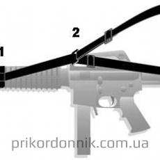 """Ремень трехточечный оружейный """"трансформер"""" черный"""