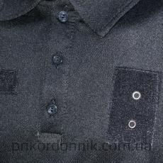 Футболка поло для Полиции Quick Dry черная- Фото№3