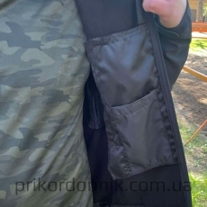 """Куртка Softshell черная """"Тактик""""- Фото№4"""