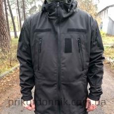 Куртка Softshell черная зимняя