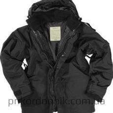 Куртка непромокаемая с флисовой подстежкой Mil-Tec черная