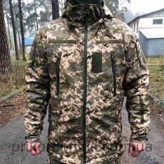 Куртка Softshell пиксель ВСУ зимняя