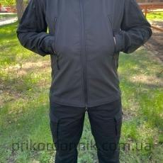 """Куртка Softshell черная """"Тактик""""- Фото№2"""