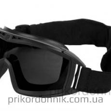 Маска-очки тактическая черная