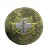 Шеврон Військово-медична служба Україна (серый крест)