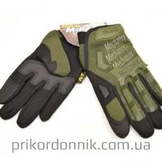 Тактические перчатки MECHANIX полнопалые, олива