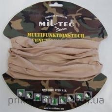 Балаклава-шарф MIL-TEC труба светлый койот