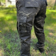 Брюки зауженные BDU FELDHOSE R / S 'SLIM FIT'  MULTITARN® BLACK- Фото№8