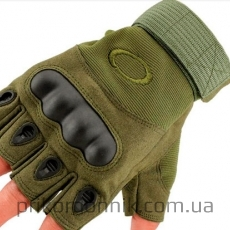 Беспалые тактические перчатки OAKLEY олива