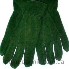 Перчатки флисовые одинарные олива