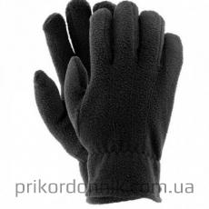 Перчатки флисовые одинарные черные
