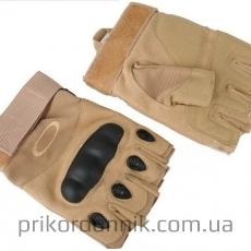 Беспалые тактические перчатки OAKLEY койот