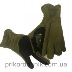 Перчатки зимние олива, флис с подкладкой