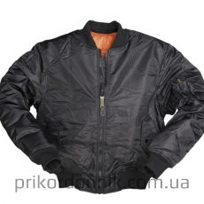 Куртка пилот  US FLIGHT JACKET 'TYPE MA1®' PES черная