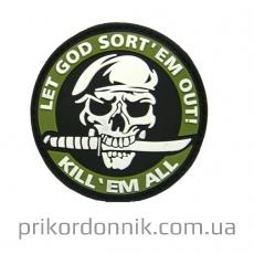 ПВХ шеврон «Let God sort*em»