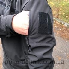 Костюм зимний Soft Shell черный- Фото№4